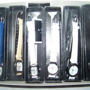 Avon 6 Piece Watch Boxed Collection Diamond Leathe